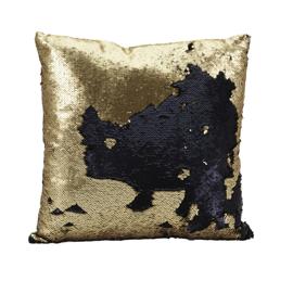Poduszka Glamour 45 x 45 cm złota / granatowa