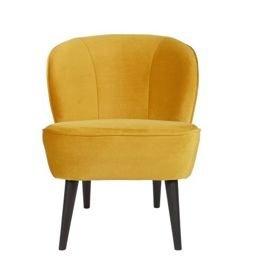 WOOOD :: Fotel SARA z aksamitu, ochra