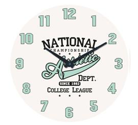 Zegar ścienny Athletic- wzór IV