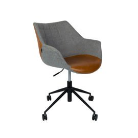 Zuiver :: Fotel biurowy Doulton Vintage brązowe